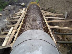 Izgradnja vodnega rova za TET