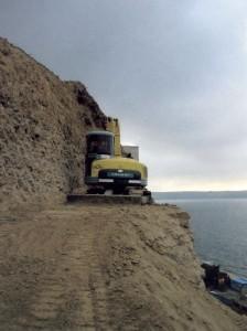 Izkop klifa v Piranu