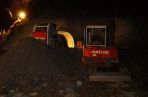 Izkop tunela v Solkanu