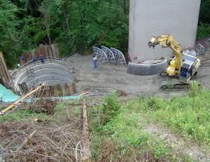 Izkop pri viaduktu Lešnica