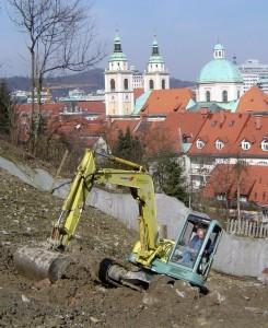 Izkop za vzpenjačo v Ljubljani